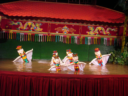 Vietnam's Golden Dragon Water Puppets