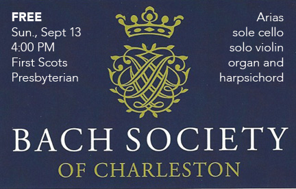Bach Society of Charleston Inaugural Event